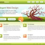 modelo de site de web verde - editável — Vetorial Stock