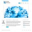 Royalty-Free Stock Vector Image: White website template