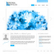 White website template - Stock Vector