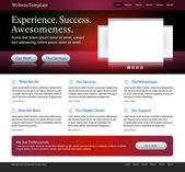 Dark red website design template — Stock Vector