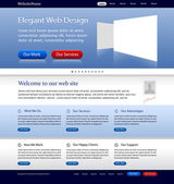 Superb web design template — Stock Vector