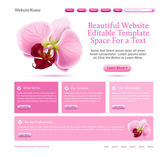 Website template for beauties — Stock Vector
