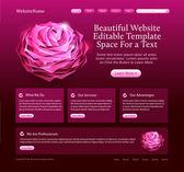 Beauty website template — Stock Vector