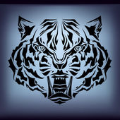 Vector tribal tiger — Vetor de Stock
