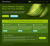 Green editable website template — Stock Vector