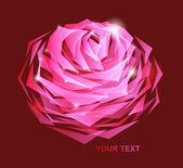 Najpiękniejszą karta kwiat — Wektor stockowy