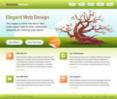 Plantilla de sitio web verde - editable — Vector de stock