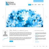 Witte website sjabloon — Stockvector