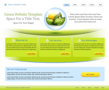 Website template for health care company