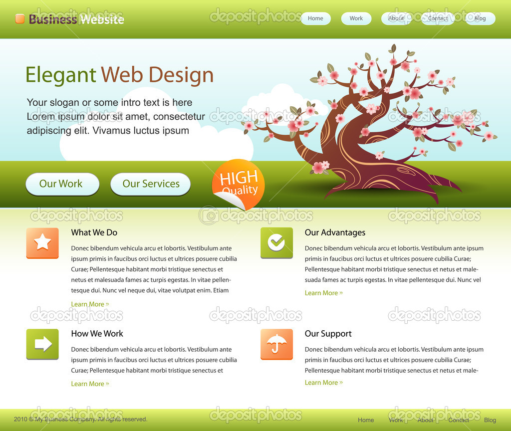 Green web site design layout - vector  Stock Vector #5715614