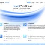 Elegant web site design template - vector — Stock Vector