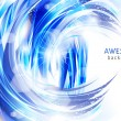 Vector awesome abstract blue background — Stock vektor