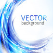 Vector awesome abstract blue background — Vector de stock