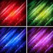 Abstract colorful backgrounds set - vector — Stock Vector