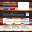 Website editable template — Image vectorielle