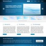 Business website design template — Stock Vector