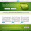 Green website template editable design — Stock Vector