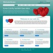 Website template medical, health care theme — Stok Vektör