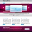 Awesome website design template - easy editable — Stok Vektör