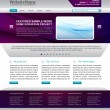 Web site template design — Image vectorielle