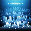 Stock Vector: Abstract city skyline background at night