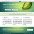 Green website nature template design — Stock Vector
