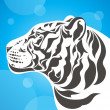 White tiger — Vector de stock