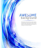 Vector abstract blue background for company style design — Stock Vector
