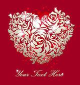 Love greeting cart — Stock Vector