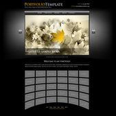 Modèle de portefeuille de site web — Vecteur