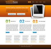 Website creative template — Stock Vector