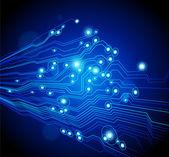 Fondo de vector de alta tecnología con textura de placa de circuito — Vector de stock