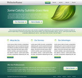 Green website nature template design — Stock Vector