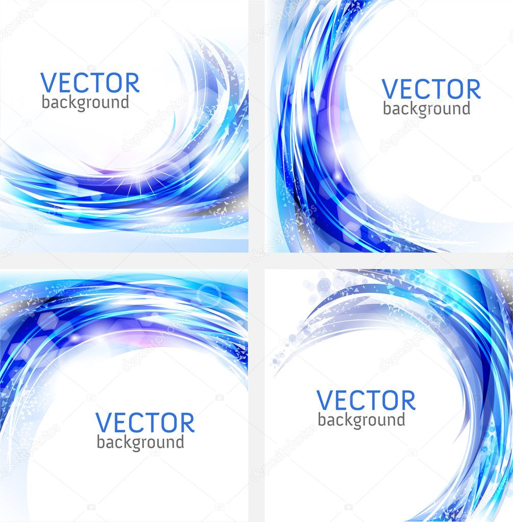 Abstract blue vector business backgrounds collection — Stock Vector #6096523