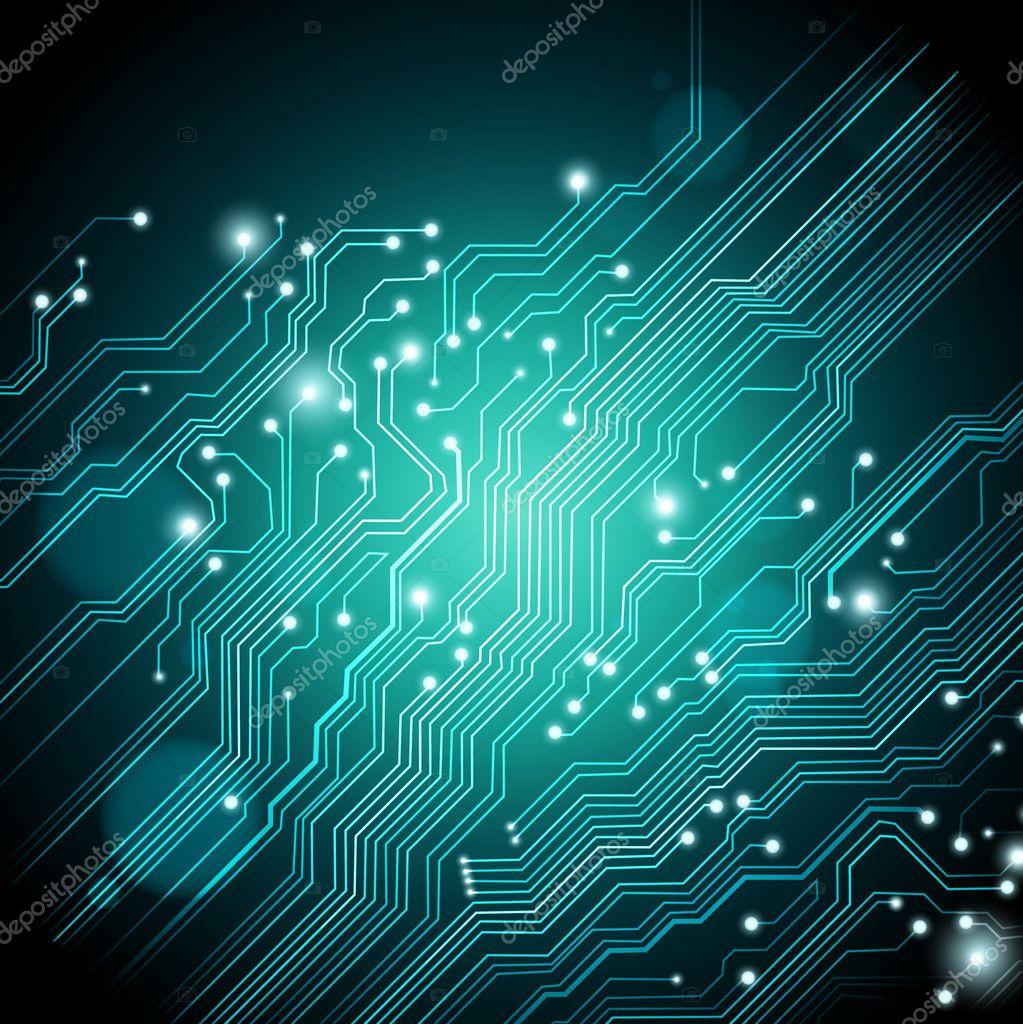 高科技矢量背景与电路板纹理