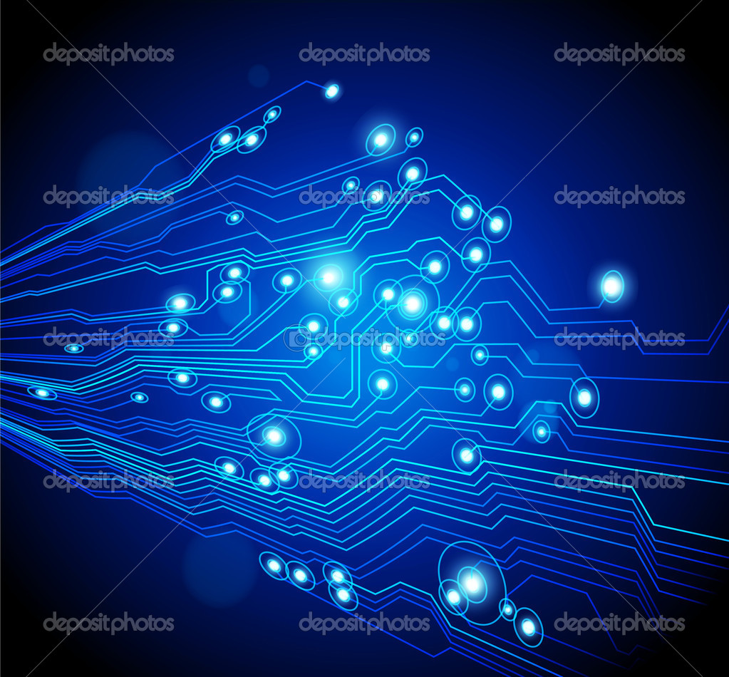 High tech vector background with circuit board texture — Stock Vector #6096838