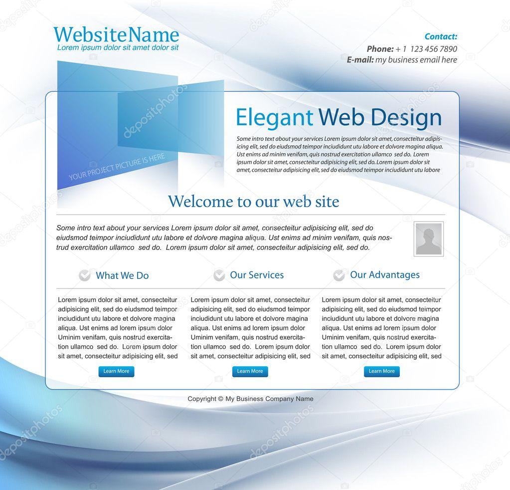 High tech company blue business website template - editable ...