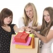 Stock Photo: Young women with shopping bag