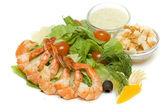 Caesar salad isolated on white — Stock Photo