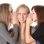 Girls talking isolated on white — Stock Photo #5794725