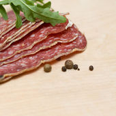 Salami sausage - gourmet background — Foto de Stock