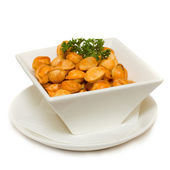 Italian Food Isolated on White — Stock Photo