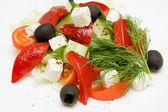 Healthy Greek Salad Closeup — Stock Photo