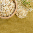 Background with Oat Flake - Healthy Eating - Stock Photo