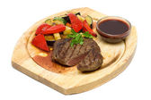 Gourmet Restaurant Food - Steak Isolated — Stock Photo