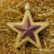Christmas star golden background — 图库照片