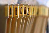 Alphabetical filing tray — Stock Photo