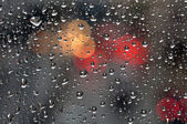 Raindrops on glass background — 图库照片