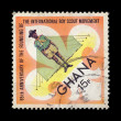 Boy scout postage stamp - Stock Photo