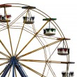 Ferris wheel in amusement park - Zdjcie stockowe